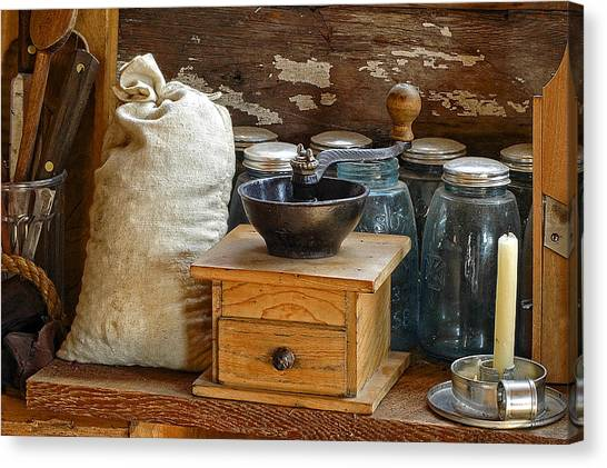 Antique Grinder Canvas Print