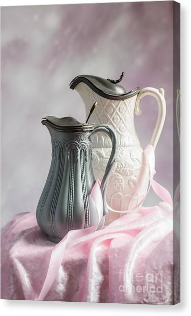 Antique Water Pitcher Canvas Print - Antique Jugs by Amanda Elwell