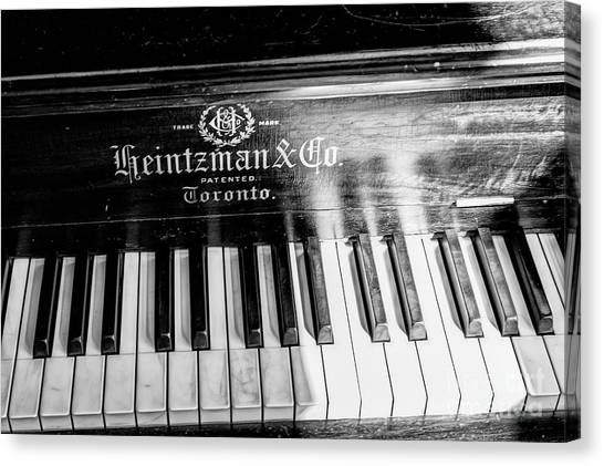 Canvas Print featuring the photograph Antique Keys by Brad Allen Fine Art