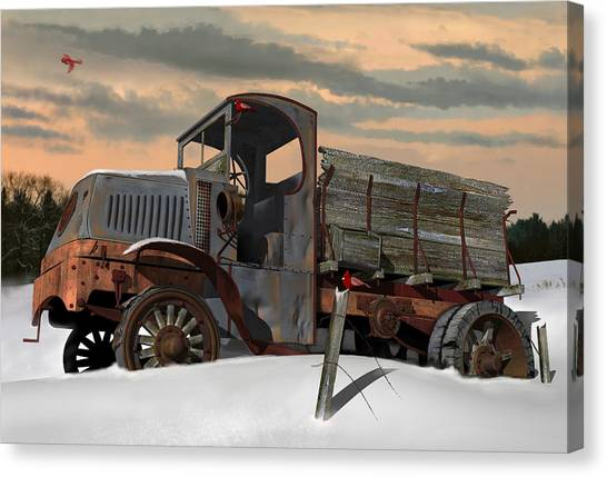 Rusty Truck Canvas Print - Antique Mack Ac by Stuart Swartz