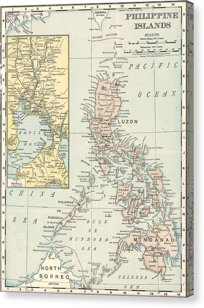 Manila philippines canvas prints page 3 of 21 fine art america manila philippines canvas print antique maps old cartographic maps antique map of philippine publicscrutiny Images
