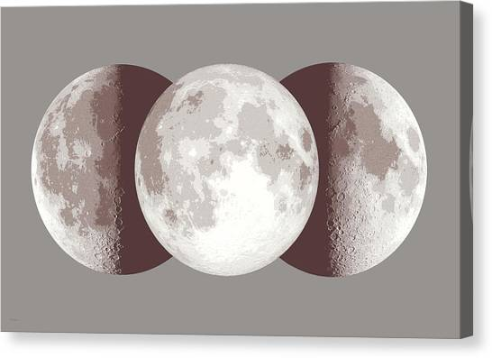 Full Moon Canvas Print - Antique Moon by Don Dixon
