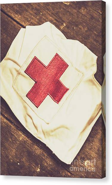 Health Care Canvas Print - Antique Nurses Hat With Red Cross Emblem by Jorgo Photography - Wall Art Gallery
