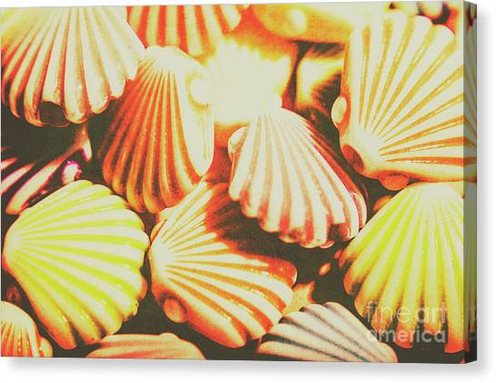 Clams Canvas Print - Antique Ocean Beads by Jorgo Photography - Wall Art Gallery