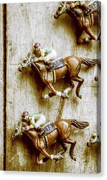 Finish Line Canvas Print - Antique Photo Finish by Jorgo Photography - Wall Art Gallery