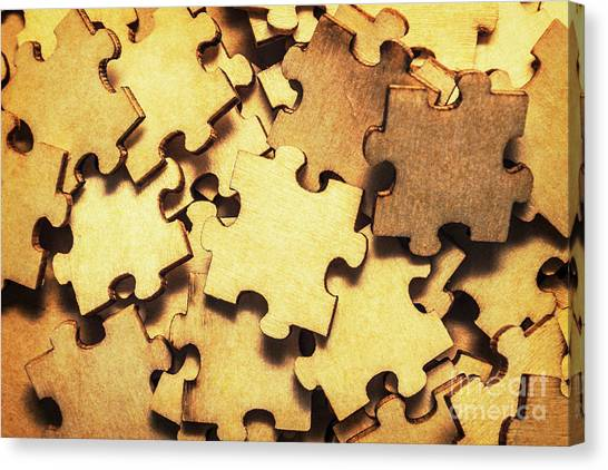Construction Canvas Print - Antique Puzzle Of Missing Links by Jorgo Photography - Wall Art Gallery