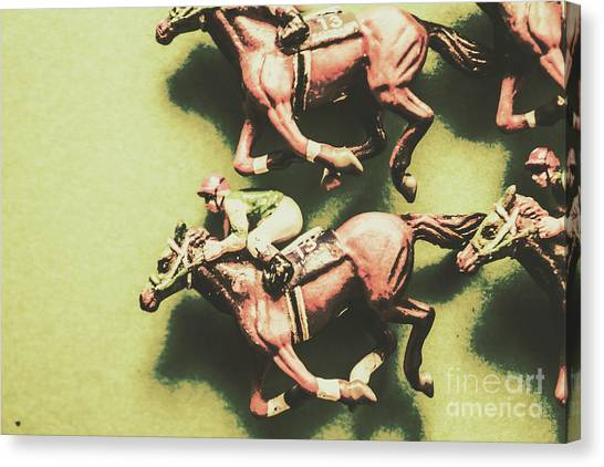 Thoroughbreds Canvas Print - Antique Race by Jorgo Photography - Wall Art Gallery
