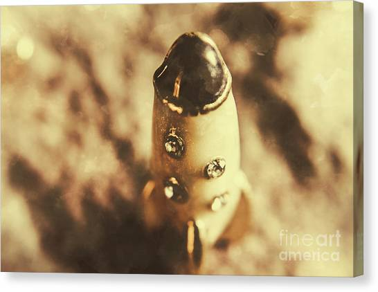 Space Shuttle Canvas Print - Antique Rocket Ship On Faded Asteroid by Jorgo Photography - Wall Art Gallery