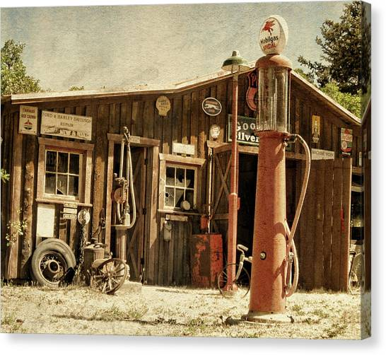 Antique Service Station Canvas Print