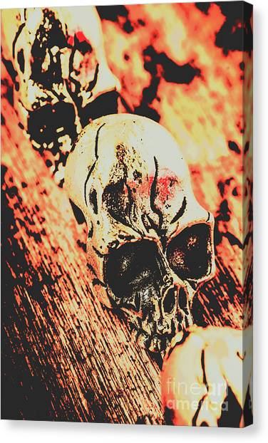 Gothic Art Canvas Print - Antique Skull Scene by Jorgo Photography - Wall Art Gallery