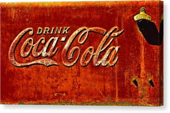 Antique Soda Cooler 3 Canvas Print