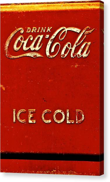 Antique Soda Cooler 6 Canvas Print