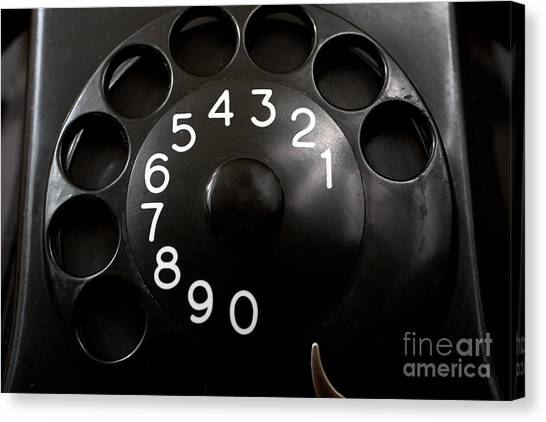 Antique Telephone Dial Canvas Print