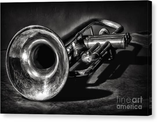 Antique Trumpet 1 Canvas Print