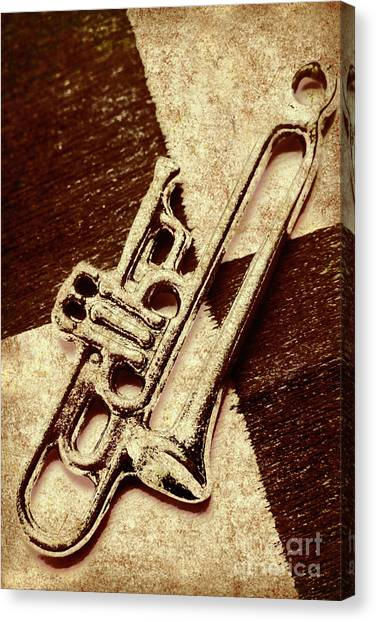 Trumpet Canvas Print - Antique Trumpet Club by Jorgo Photography - Wall Art Gallery