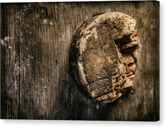 Keg Canvas Print - Antique Wine Barrel Cork by Tom Mc Nemar