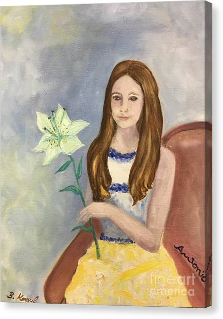 Canvas Print - Antonia With Lily by Barbara Anna Knauf