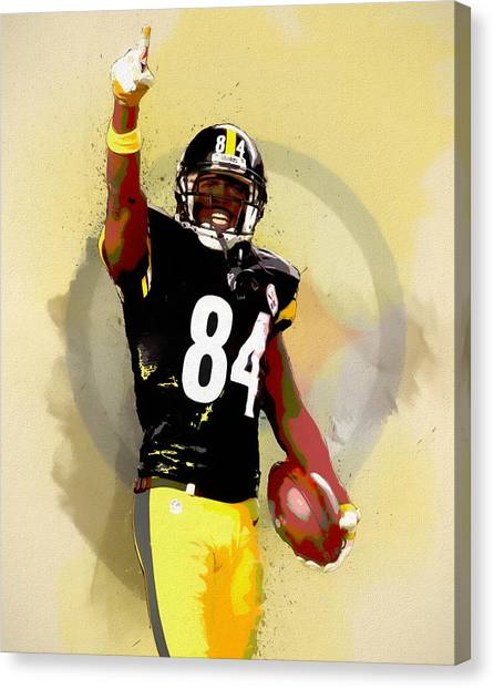 Ben Roethlisberger Canvas Print - Antonio Brown by Dan Sproul