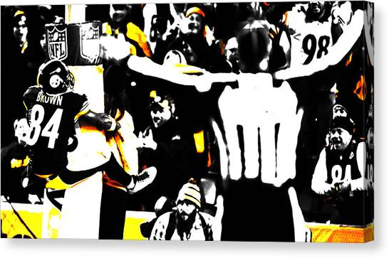 Ben Roethlisberger Canvas Print - Antonio Brown Hanging Around by Brian Reaves