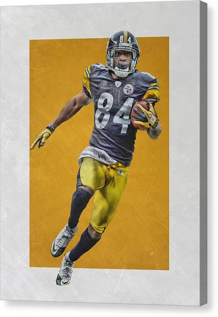 Pittsburgh Steelers Canvas Print - Antonio Brown Pittsburgh Steelers Art by Joe Hamilton