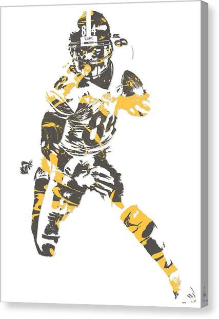 Pittsburgh Steelers Canvas Print - Antonio Brown Pittsburgh Steelers Pixel Art 15 by Joe Hamilton