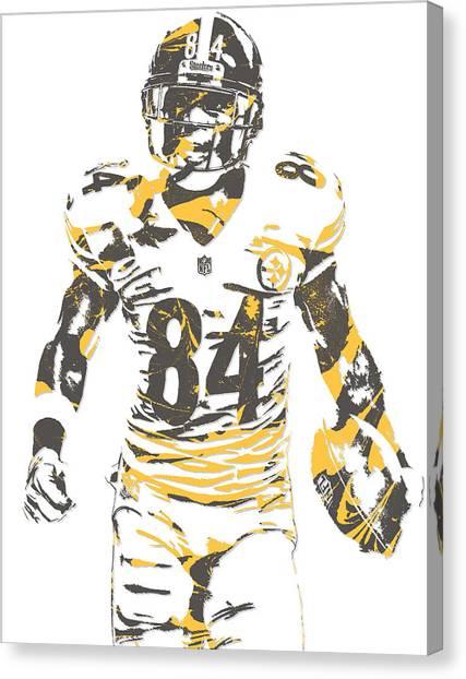 Pittsburgh Steelers Canvas Print - Antonio Brown Pittsburgh Steelers Pixel Art 17 by Joe Hamilton