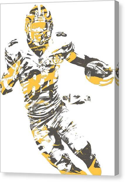 Pittsburgh Steelers Canvas Print - Antonio Brown Pittsburgh Steelers Pixel Art 21 by Joe Hamilton