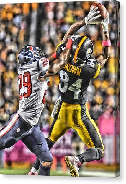 Pittsburgh Steelers Canvas Print - Antonio Brown Steelers Art 4 by Joe Hamilton