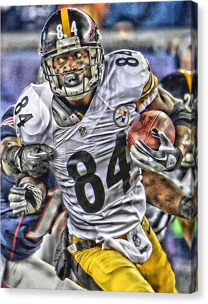 Pittsburgh Steelers Canvas Print - Antonio Brown Steelers Art by Joe Hamilton