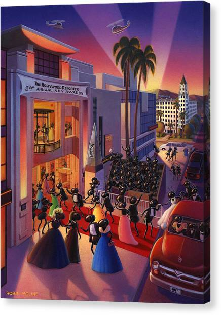 Beverly Hills Canvas Print - Ants Awards Night by Robin Moline
