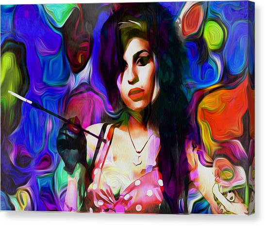 Dean Russo Canvas Print - Amy Winehouse by Galeria Trompiz