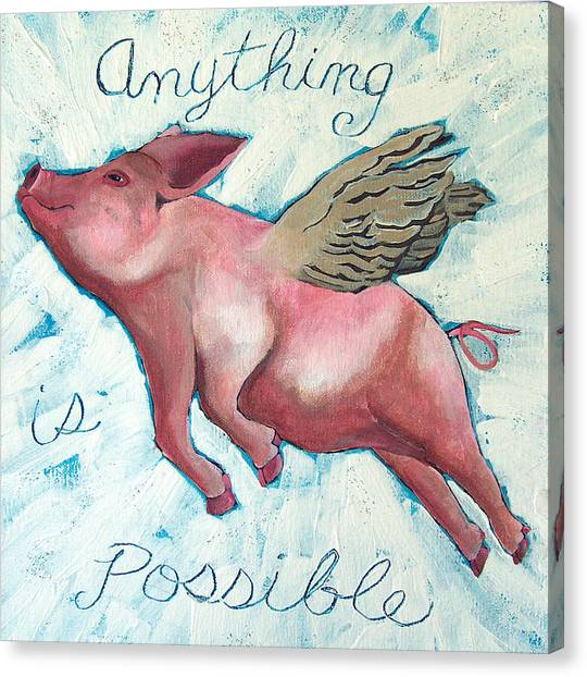 Hogs Canvas Print - Anything Is Possible by Racquel Morgan