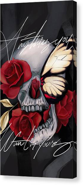 Bone Canvas Print - Anything You Want Is Yours by Canvas Cultures