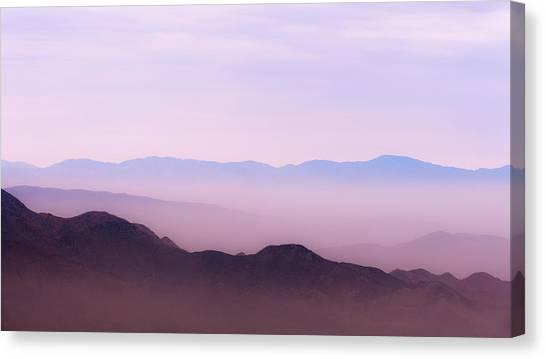 Desert Sunrises Canvas Print - Anza-borrego Blue Ridge by Joseph Smith