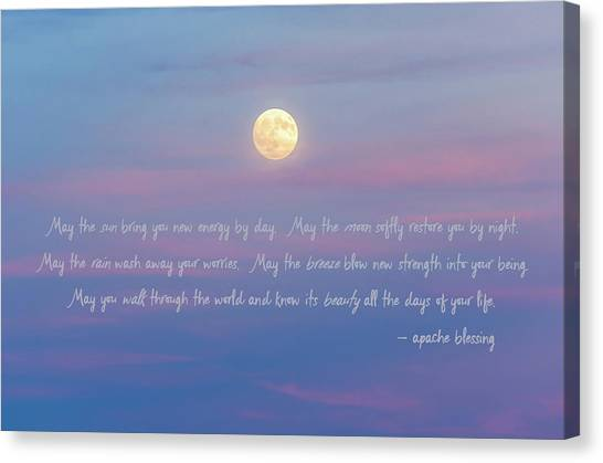 Apache Blessing Harvest Moon 2016 Canvas Print