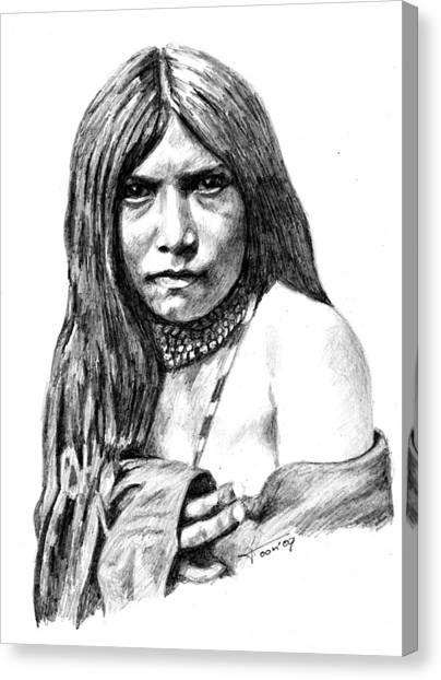 Apache Girl Zosh Clishn Canvas Print