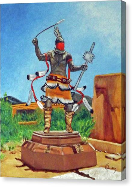 Apache Mountain Spirit Dancer Canvas Print
