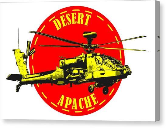 Apache On Desert Canvas Print