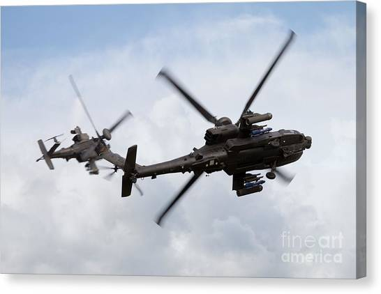 Aac Canvas Print - Apache Role Demo by J Biggadike