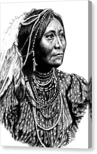 Apache Woman Canvas Print