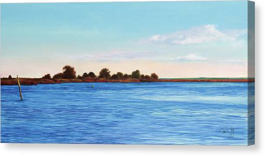 Apalachicola Bay Autumn Morning Canvas Print