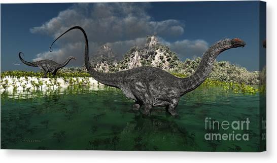Brontosaurus Canvas Print - Apatosaurus by Corey Ford