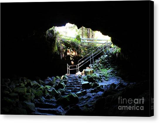 Mountain Caves Canvas Print - Ape Cave by Michelle Williamson