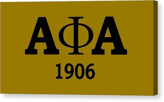 Alpha Phi Canvas Print - Gold Alpha Phi Alpha  by Sincere Taylor