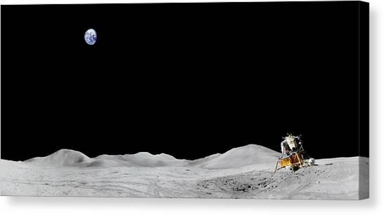 Apollo 15 Landing Site Panorama Canvas Print