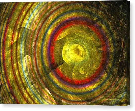 Canvas Print featuring the digital art Apollo - Abstract Art by Sipo Liimatainen