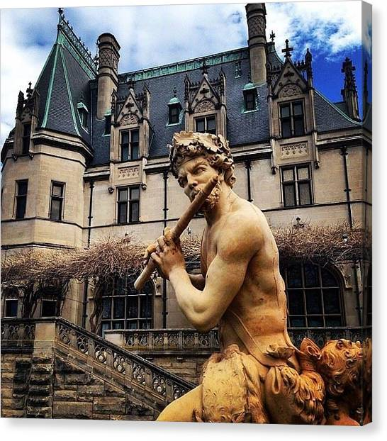 Flutes Canvas Print - Apollo Playing The Flute by Jen McKnight