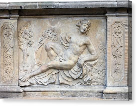 Apollo Relief In Gdansk Canvas Print
