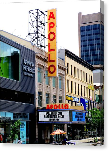 Apollo Theater Canvas Print - Apollo Theater by Randall Weidner