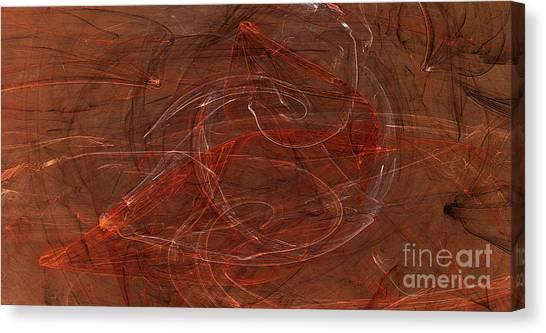 Apophysis Fractal Flame Color Art Print Canvas Print by Randy Steele